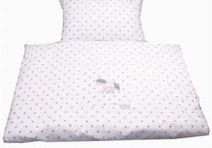 Baby Walz Bettwäsche Bettwasche Rosa Weiss