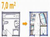 Badezimmer 4 Qm Ideen Badplanung Beispiel 7 Qm Freistehend Badewanne Mit Wc Bidet