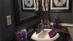 Badezimmer Deko Lila Black and Grey Bathroom with Lavender Accents