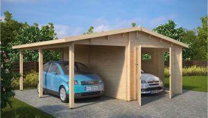 Carport Garagen Kombination Garage and Carport Bination Type G 44mm 6 X 6 M