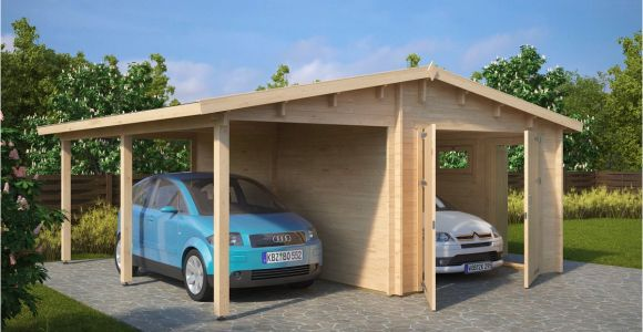 Carport Garagen Kombination Garage and Carport Bination Type G 44mm 6 X 6 M