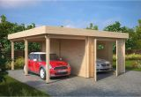 Carport Garagen Kombination Garage and Carport Bination Type H 44mm 6 X 6 M