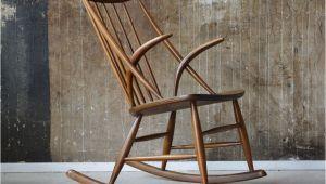 Dansk Design Schlafzimmer 50er Illum Wikkelso Schaukelstuhl Sessel Danish Design 50s