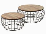 Design Küchentisch Klein Metall Salesfever Couchtisch 2er Set Rund Aus Holz Metall Levin