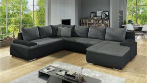 Designer sofa U form Wohnlandschaft U form Nikos Schwarz Grau Ottomane Rechts