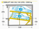 Doppelparker Garagen Parklift 340 W–hr Autoparksysteme Gmbh