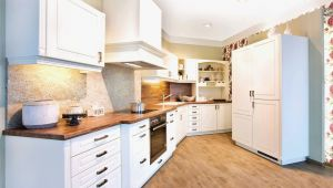 Einzel Küchenschrank Kuchen Grau Holz