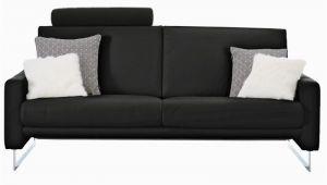 Einzelsofa Coast Interliving sofa 4001 3 Sitzer Schwarz Lederklasse 50