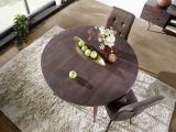 Esstisch Rund Holz Massiv Wohnling Esszimmertisch Rund Smoke Gray Wl5 646 Aus Akazie