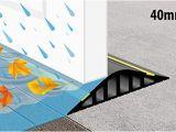 Garage Bodenplatte Abdichten Weather Stop L X H 2 Mx 40 Mm Garagentordichtung Wassersperre Ws013 200 Schwarz