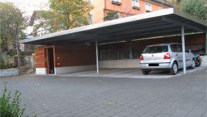 Garage Für 4 Autos Flachdach Carport 6° Geneigt Aus Stahl Für 4 Autos Mit