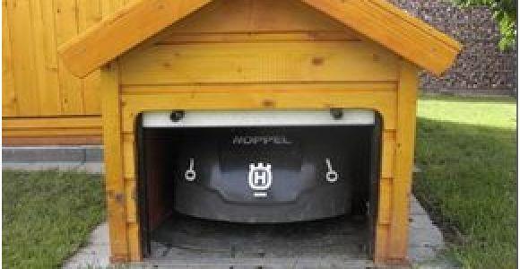 Garage Selbstbau Mähroboter Rolltor Garage Eigenbau 2