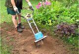 Garten Mit Maschine Umgraben Arbeit Mit Der Motorhacke Im Garten