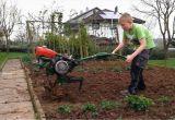 Garten Mit Maschine Umgraben Garten Fräsen Und Saatbett Vorbereiten