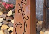 Garten Säulen Rost Der Besondere Metall Dekoartikel Für Den Hauseingang
