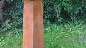 Gartensäule Rostig Dekorative Gartensäule Dekosäule Eisensäule Rost