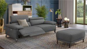 Holz Leinen sofa Celano Stoff 3 Sitzer