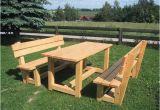 Holzbänke Mit Tisch Für Garten Holzbank Mit Integriertem Tisch