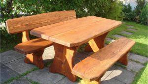 Holzbänke Mit Tisch Für Garten Rundholzbank Holzbank Tisch Garnitur Garten Bank Bänkli