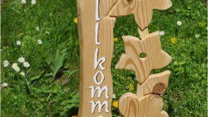 Holzstele Gartendeko Diese Stele Begrüßt Ihre Gäste Gleich Mit Einem