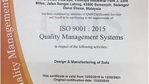 Kenitti sofa Design Quality assurance