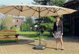 Kinderbank Garten Mit Schirm Leco sonnenschirm Oval Natur Gartenxxl
