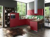 Küche Grau Rot Kuchen Grau Holz