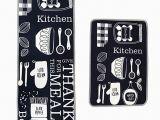 Küche Waschbecken Abfluss Leebei Küche Teppiche Gummibeschichtung Dekorative Rutschfeste Fußmatte Läufer Bereich Eingang Matten Sets Mahlzeit 15 7 — 23 6 Zoll 15 7 — 47 2