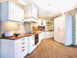 Küche Weiß Eiche Boden Kuchen Grau Holz