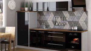 Küche Weiß Hochglanz Kuchen Grau Holz
