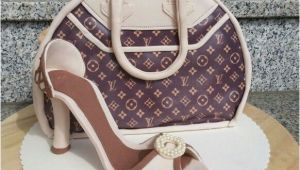 Kuchen and Bag Louis Vuitton Bag Cake and Gumpaste High Heel