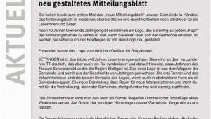 Küchengestaltung Gesang Gmbh Althengstett 4 3 2 Neues Logo Und Neu Gestaltetes Mitteilungsblatt