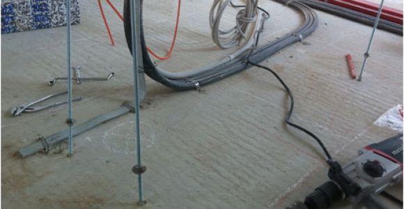 Kücheninsel Boden Befestigen Fußbodenheizung Verankerung Der Kochinsel