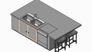 Kücheninsel Cad 2d Und 3d Cad Modelle Kücheninseln Cadblocksfree Cad
