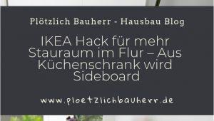 Küchenschrank Schiebetür Garderobe Ikea Hack