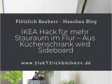 Küchenschrank Schwarz Garderobe Ikea Hack
