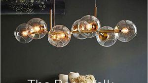 Lampe Esstisch Glaskugeln Zmh Led Pendelleuchte Esstisch Hängeleuchte Mit 8 Flammig