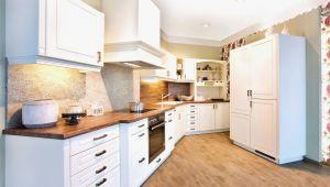 Landhaus Küchenschrank Kuchen Grau Holz