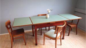 Linoleum Tisch Köln sold Ausziehbarer Esstisch Mit Mintgrünem Linoleum