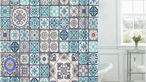 Marokkanische Badezimmer Fliesen Emvency Stoff Vorhang Für Dusche Vorhang Mit Haken