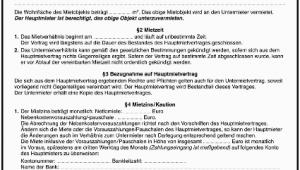 Mietvertrag Garage formular Gratis Untermietvertrag formular Gratis Zum