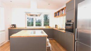 Moderne Küche Holzoptik Kuchen Grau Holz