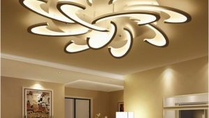 Moderne Lampen Für Schlafzimmer Großhandel Oberflächenmontierte Moderne Led Deckenleuchte Leuchter Für Wohnzimmer Schlafzimmer Weiße Schwarze Leuchter Acrylice Lampenschirm Lampen
