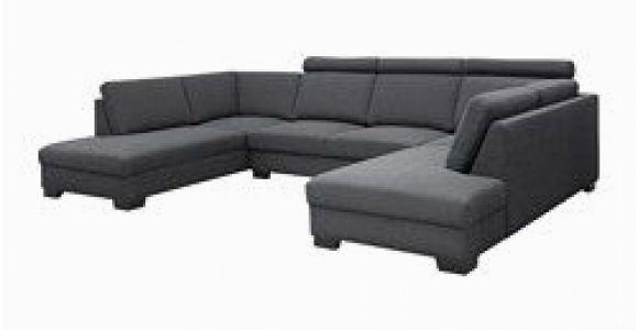 Moderne sofas U form S–rvallen sofa U form Tenö Dunkelgrau Breite 365 Cm Tiefe