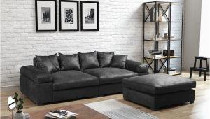 Modernes sofa Retro Big sofa Megasofa Riesensofa arezzo Vintage Schwarz Inkl Hocker