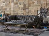 Old sofa Design sofa Vintage Leder Petrolium Grau Dialma Brown