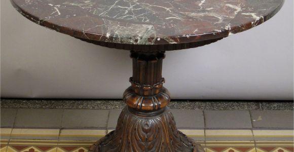 Runder Esstisch Holz 80 Cm Runder Tisch Mit Marmorplatte Epoche Neorenaissance