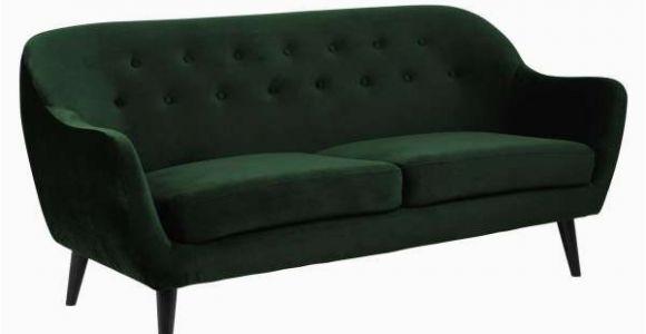 Samt sofa sofa Dunkelgrün Samt