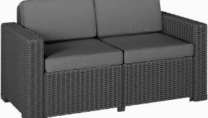 Schlafsofa Unter 100€ Allibert Lounge sofa 2 Sitzer California sofa Rattanoptik Kunststoff Graphit