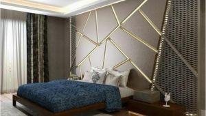 Schlafzimmer Decken Design Wände Mit Stein Und Indirekter Beleuchtung Dekoriert
